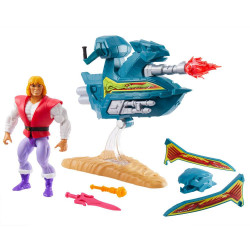 Action Figure: Masters of the Universe Origins - Prince Adam with Sky Sled