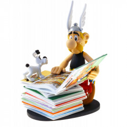Asterix Series: Asterix with pile of magazines