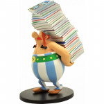 Asterix Series: Obelix with pile of magazines