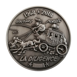 Collectible Medal: Lucky Luke - The Stagecoach