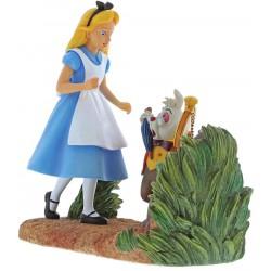 "Disney Enchanting: ""Mr Rabbit, Wait!"" Alice in Wonderland Figurine"