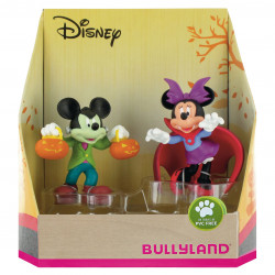Disney Gift Box with 2 Figures Mickey and Minnie Halloween