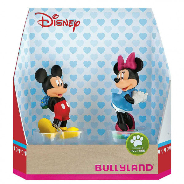 Disney Gift Box with 2 Figures Mickey and Minnie Valentine