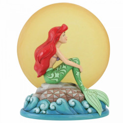 Disney Traditions: Mermaid by Moonlight (Ariel with Light up Moon Figurine)