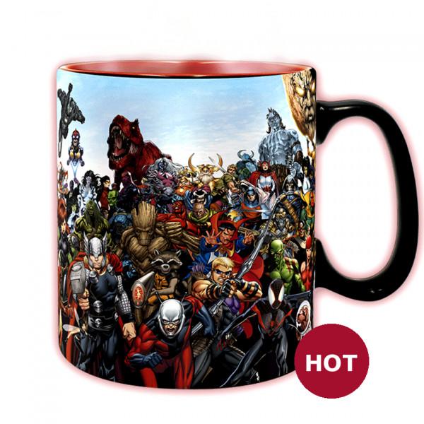 Heat Change Mug: Marvel Heroes