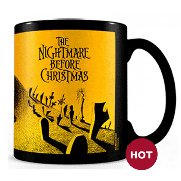 Heat Change Mug: Nightmare before Christmas - Graveyard Scene
