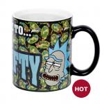 "Heat Change Mug: Rick and Morty ""Get Schwifty"""