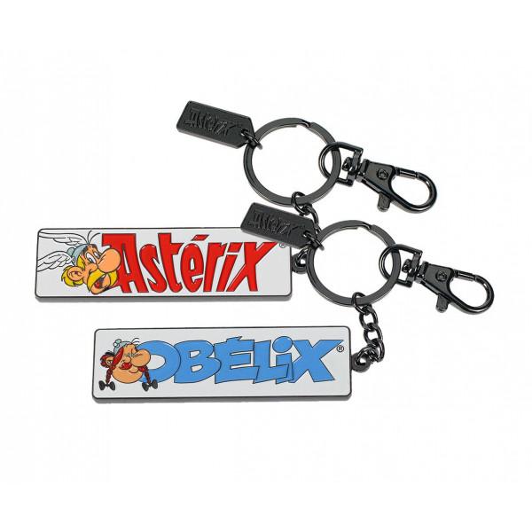 Keychain:  Asterix & Obelix metallic 7 cm
