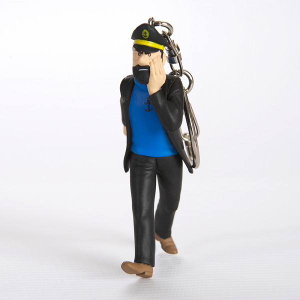 Keychain: Captain Haddock with newspaper, 10cm