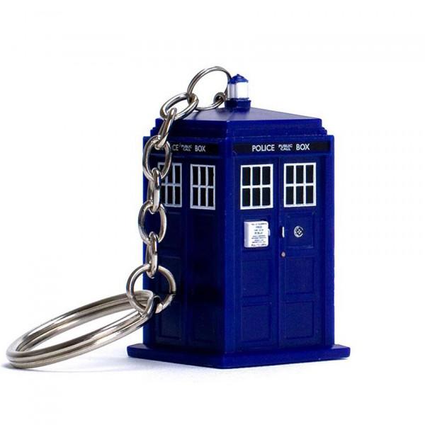 Keychain: Doctor Who Light-Up Tardis
