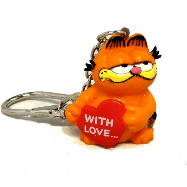 "Keychain: Garfield ""With Love"""