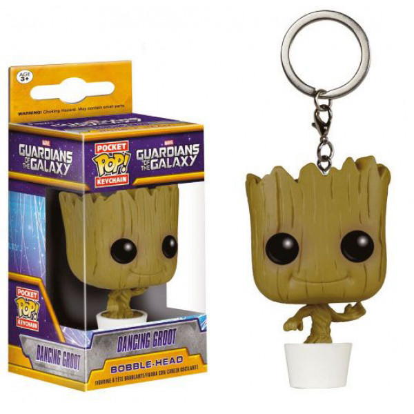 Keychain: Guardians of the Galaxy Pocket POP! Vinyl - Dancing Groot 4 cm