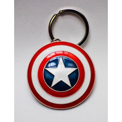 Keychain: Marvel Comics Metal Keychain Captain America's Shield