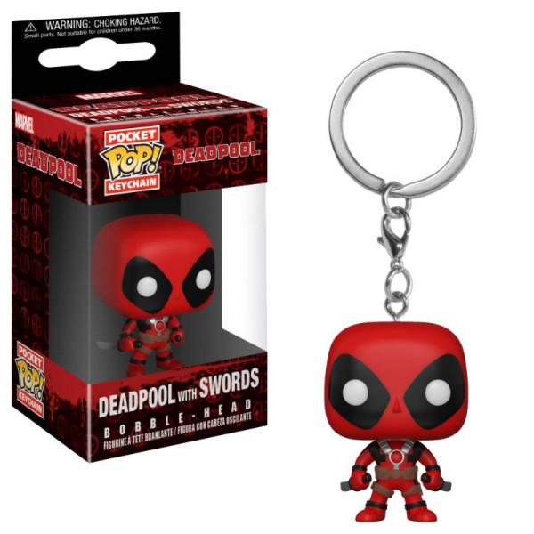 Keychain: Marvel Pocket POP! Vinyl Deadpool με σπαθιά
