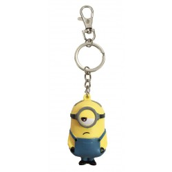 Keychain:  Minions with Anti-Stress Figure Stuart 7 cm