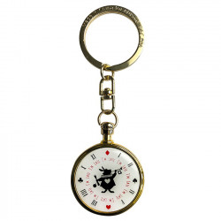 Keychain: Rabbit's clock (Alice in Wonderland)