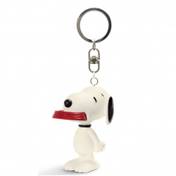 Keychain: Snoopy with his Supper Dish