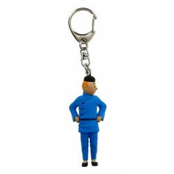 Keychain: Tintin Blue Lotus