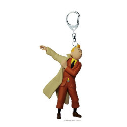 Keychain: Tintin in trenchcoat