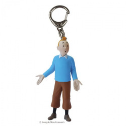 Keychain: Tintin wearing blue sweater