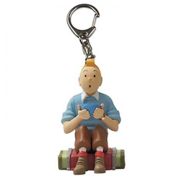 Keychain: Tintin with a bowl
