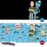 Heat Change Mug: Jerry and Mr Meeseeks