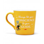 """Mug Pinocchio """"Always let your conscience be your quide"""""""