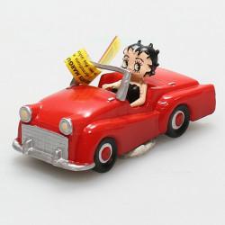 Μίνι φιγούρα: H Betty Boop σε κοκκινο αυτοκίνητο
