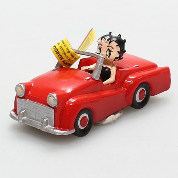 Mini Figure: Betty Boop in red car