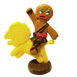 Mini figure: Gingerbread Cookie Man riding