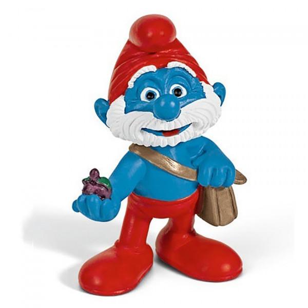 Mini Figure: Papa Smurf with Bag