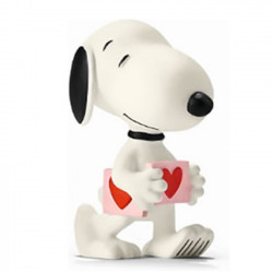 Mini Figure: Snoopy is holding a heart