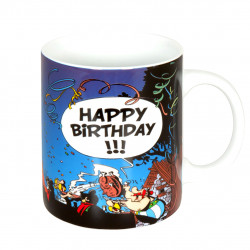 "Mug Asterix ""Happy Birthday"""