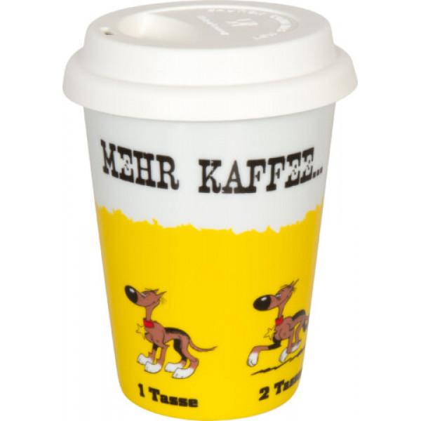 """Κούπα Λούκυ Λουκ """"Περισσότερο καφέ..."""""""