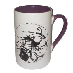 Mug Tintin cowboy