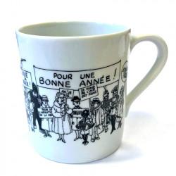 Mug Tintin with wishes
