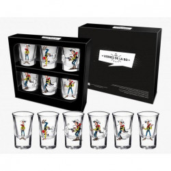 Shotglass 6-Pack Lucky Luke