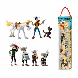Tube: 7 Mini-figurines Lucky Luke
