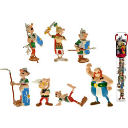 Tube: Asterix fight with 7 Mini figurines