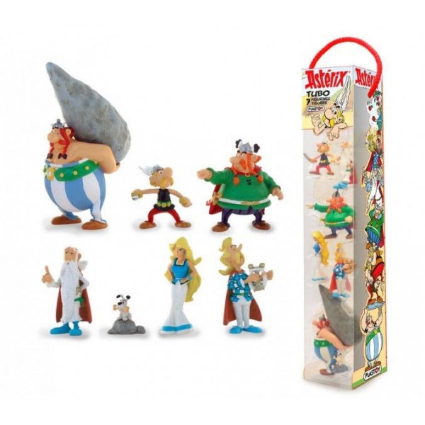 Tube: Asterix fight with 7 Mini-figurines - The Village