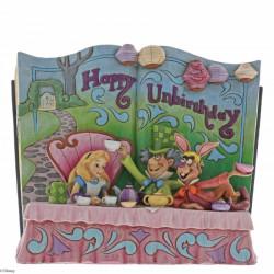 """Βιβλιοστάτης Disney Traditions: Η Αλίκη στη Χώρα των Θαυμάτων Tea Party """"Happy Unbirthday"""" Storybook"""