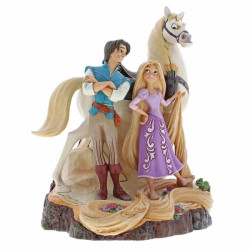 "Disney Traditions: Tangled ""Carved by Heart Live Your"" by Jim Shore"