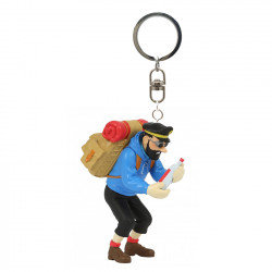Keychain: Captain Haddock And The Empty Bottle