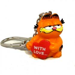 "Keychain: Garfield ""With Love"""
