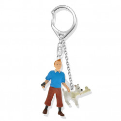 Keychain: Tintin and Snowy