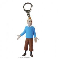 Keychain: Tintin wearing blue sweater