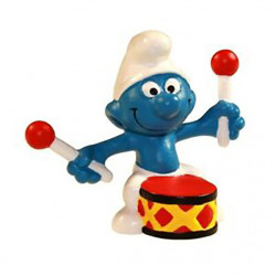 Mini Figure: Drummer Smurf