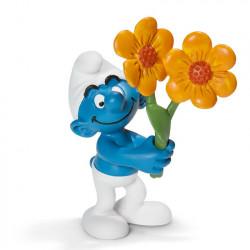 Mini Figure: Smurf with flowers