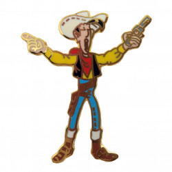 Pins of Lucky Luke Series: Golden Lucky Luke with 2 pistoles