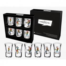 Shotglass 6-Pack Lucky Luke